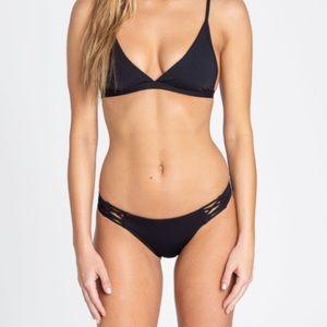 Black bikini bottoms NWT